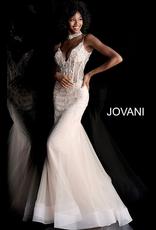 Dresses 22 Jovani Blush Embellished Formal Dress