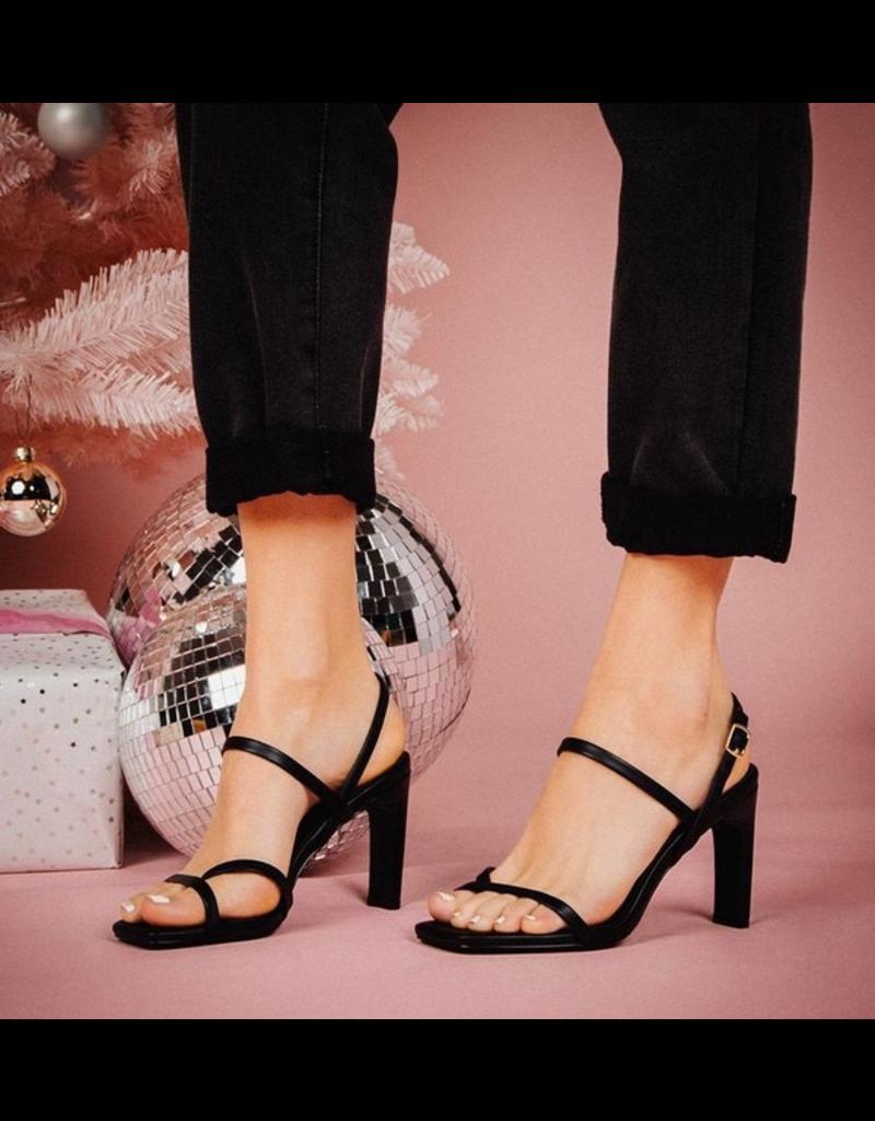 Shoes 54 Strappy Black Slingback Heel