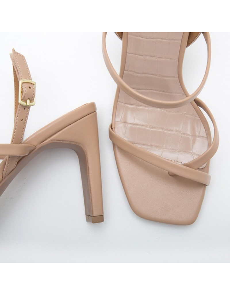 Shoes 54 Strapy Nude Slingback Heel