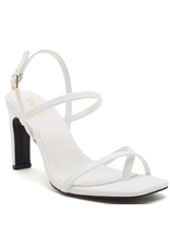 Shoes 54 Strappy Slingback White Heel