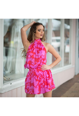Dresses 22 Color Crush Bow Back Hot Pink/Red Dress