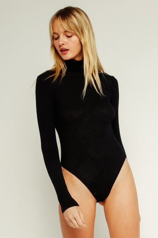 Tops 66 Turtleneck Black Bodysuit