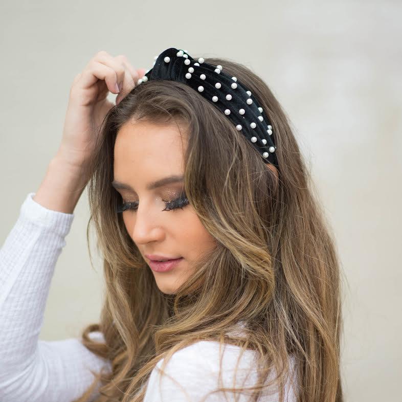 Accessories 10 Pearl Velvet Headband