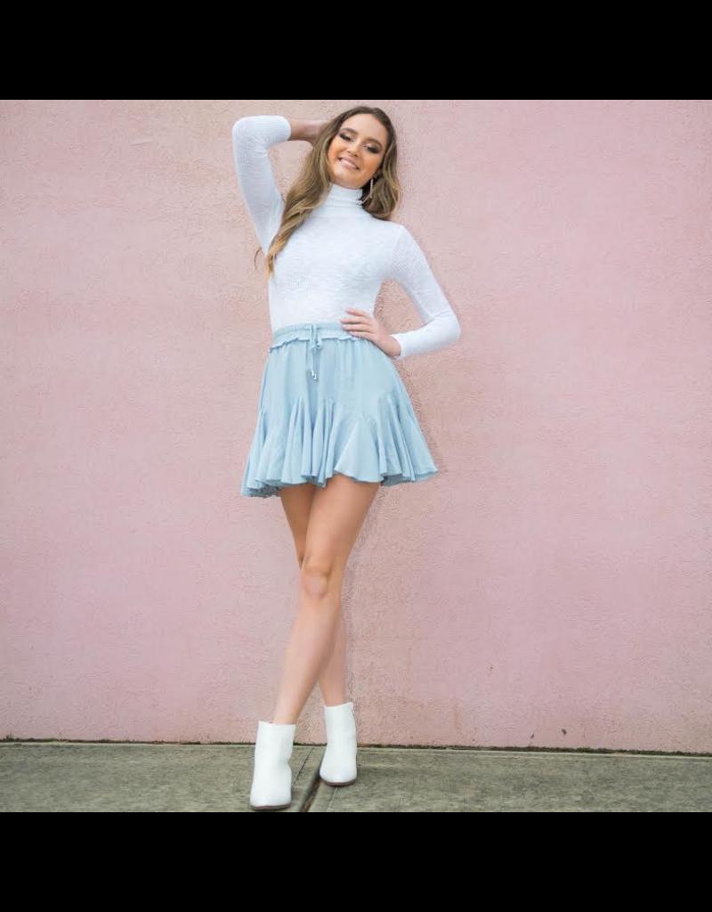 Skirts 62 Ruffle Around Blue Skirt