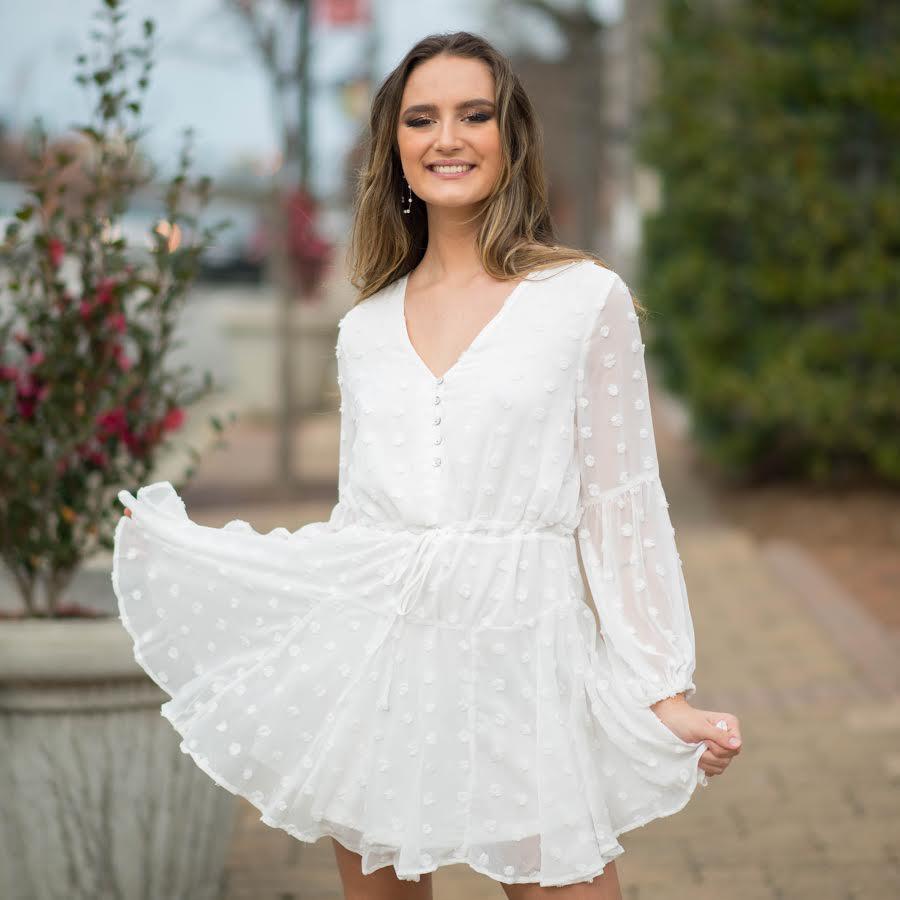 Dresses 22 Breath Of Spring Swiss Dot Dress
