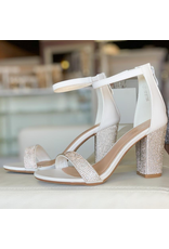 Shoes 54 Night To Remember White Embellished Heels