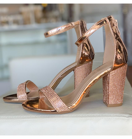 Shoes 54 Night To Remember Rose Gold Embellished Heel
