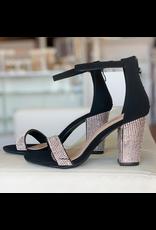 Shoes 54 Night To Remember Black Embellished Heels