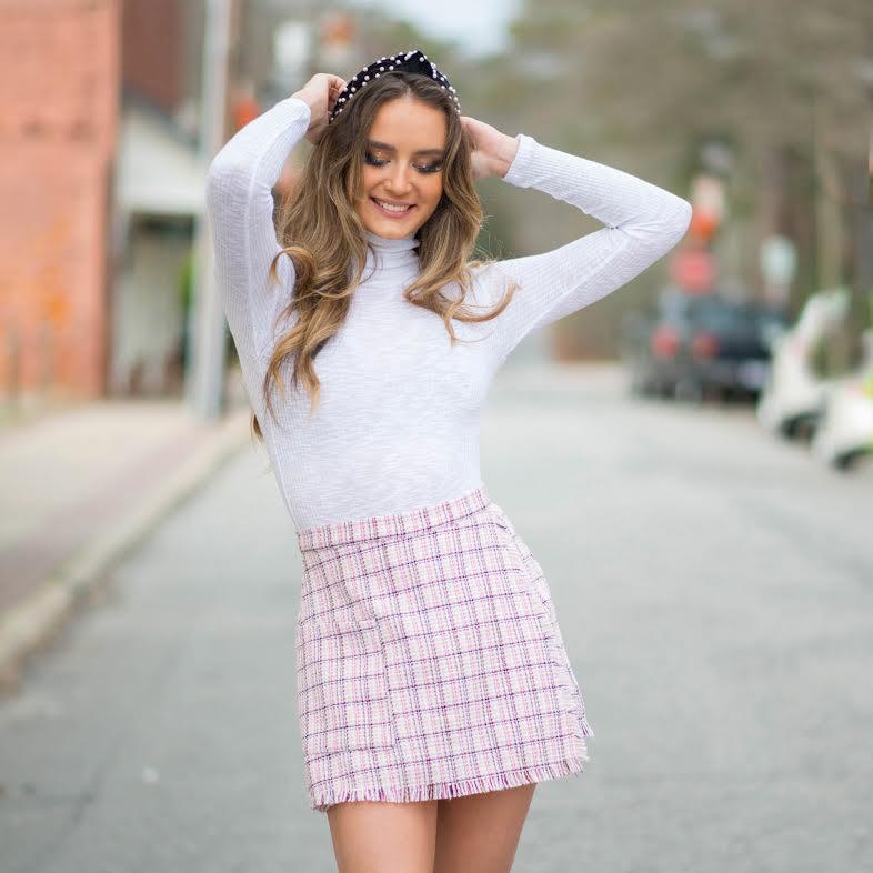 Shorts 58 Pink Tweed Skort
