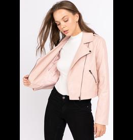 Outerwear Make Me Blush Leather Jacket