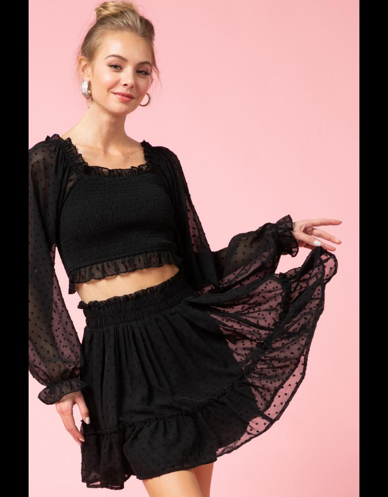 Skirts 62 Swiss Dot Black Skirt