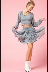 Skirts 62 Swiss Dot Grey Skirt