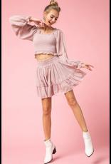 Skirts 62 Blushing Swiss Dot Skirt