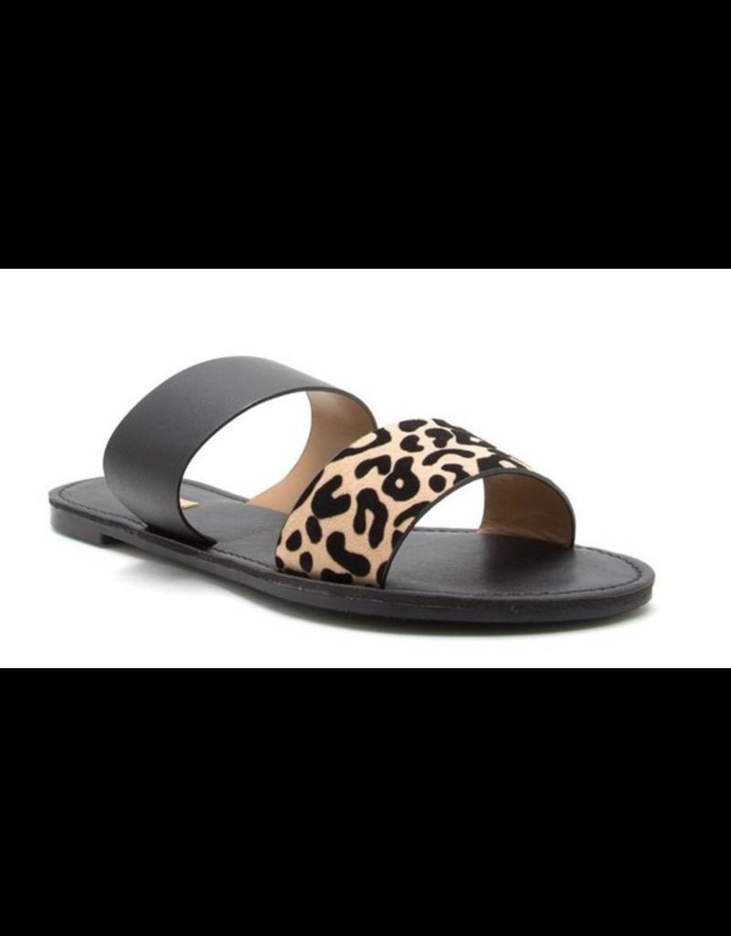 Shoes 54 Strappy Spring Black Leopard Sandal