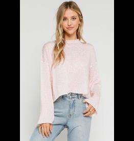 Tops 66 Pink Leopard Mock Neck Sweater