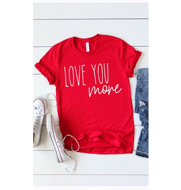 Tops 66 Love You More Red Tee