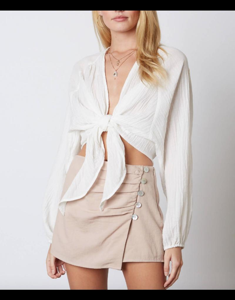 Skirts 62 Linen Button Front Skort