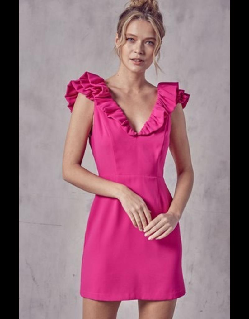 Dresses 22 Ruffle and Reason Flamingo Pink Dress