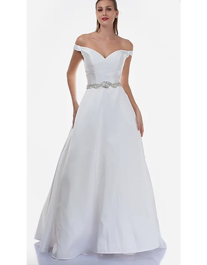 Dresses 22 Enchanted Evening White Embellished Formal Dress