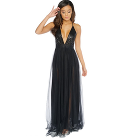 Dresses 22 Black Tulle and Sequin Formal Dress