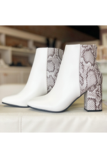 Shoes 54 White and Snake Bootie