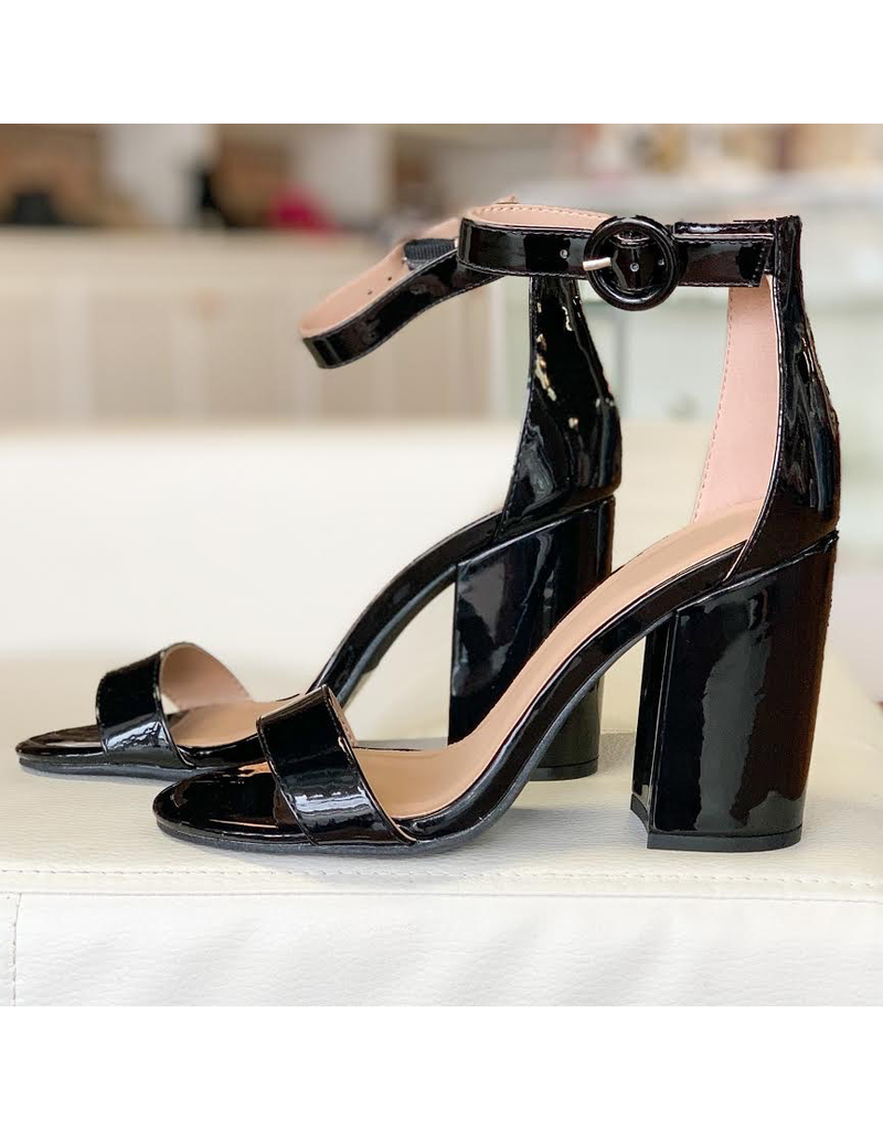 Shoes 54 Black Patent Block Heels