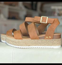 Shoes 54 Tan Espadrille Sandals