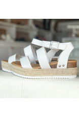 Shoes 54 White Espadrille Sandals