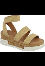 Shoes 54 Natural Raffia Cork Bottom Sandal