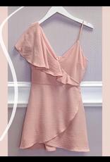 Dresses 22 Make Me Blush One Shoulder Ruffle Dress