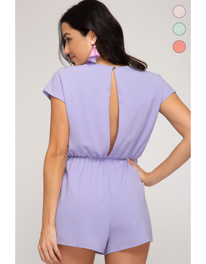 Rompers 48 Spring Dream Lavender Tie Front Romper