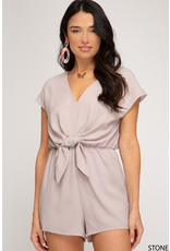 Rompers 48 Now Or Neutral Tie Front Romper