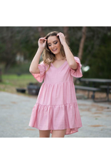 Dresses 22 Pretty Party Tiered Blush Pink Dress