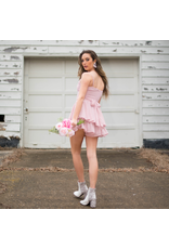 Rompers 48 Swiss Dot Blush Pink Party Romper