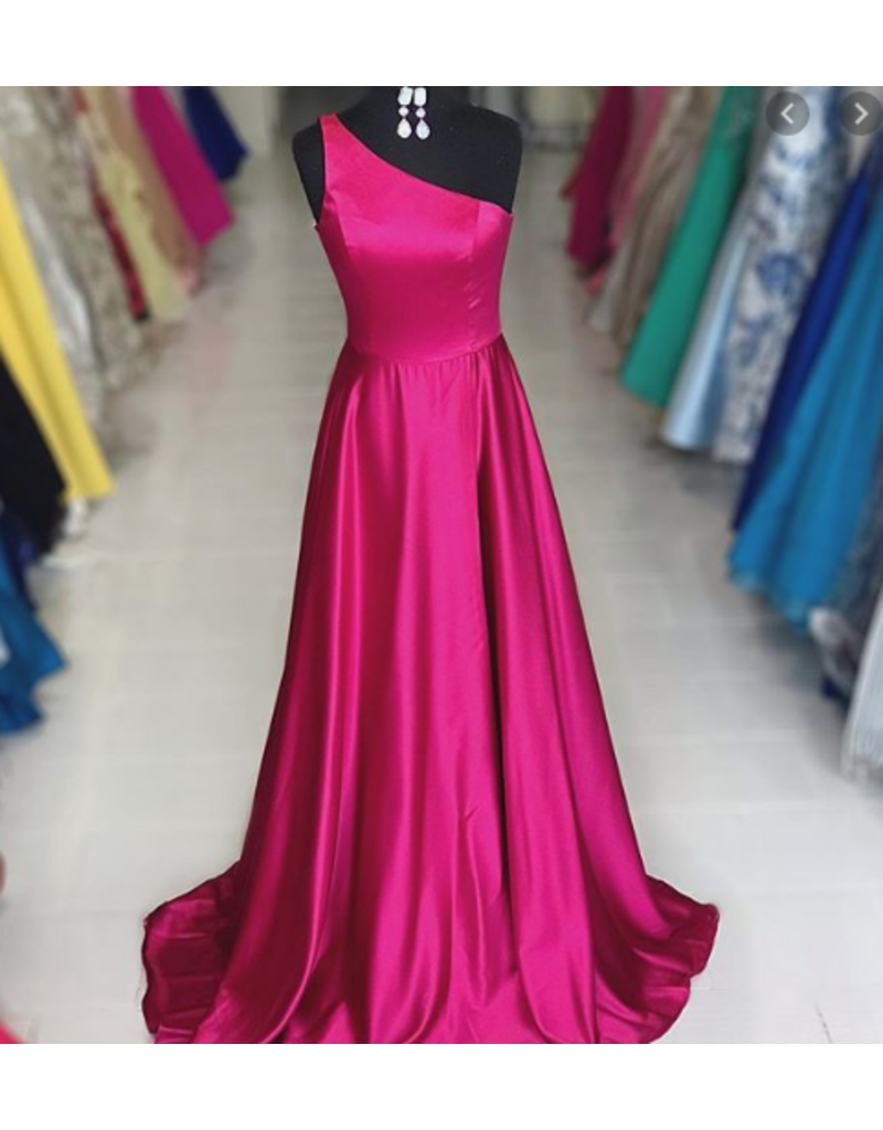 Dresses 22 Jovani Unforgettable Hot Pink One Shoulder Formal Dress