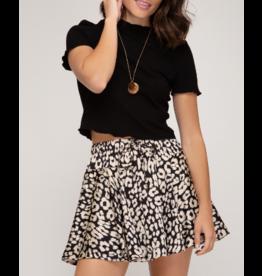 Skirts 62 Wild One Satin Animal Print Flutter Skort