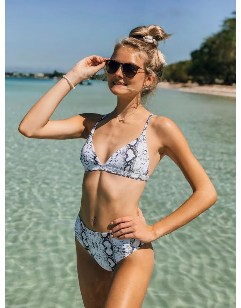 Swimsuits Snake Print Bikini Top