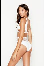 Swimsuits Mesh Around White Bikini High Waisted Bottoms