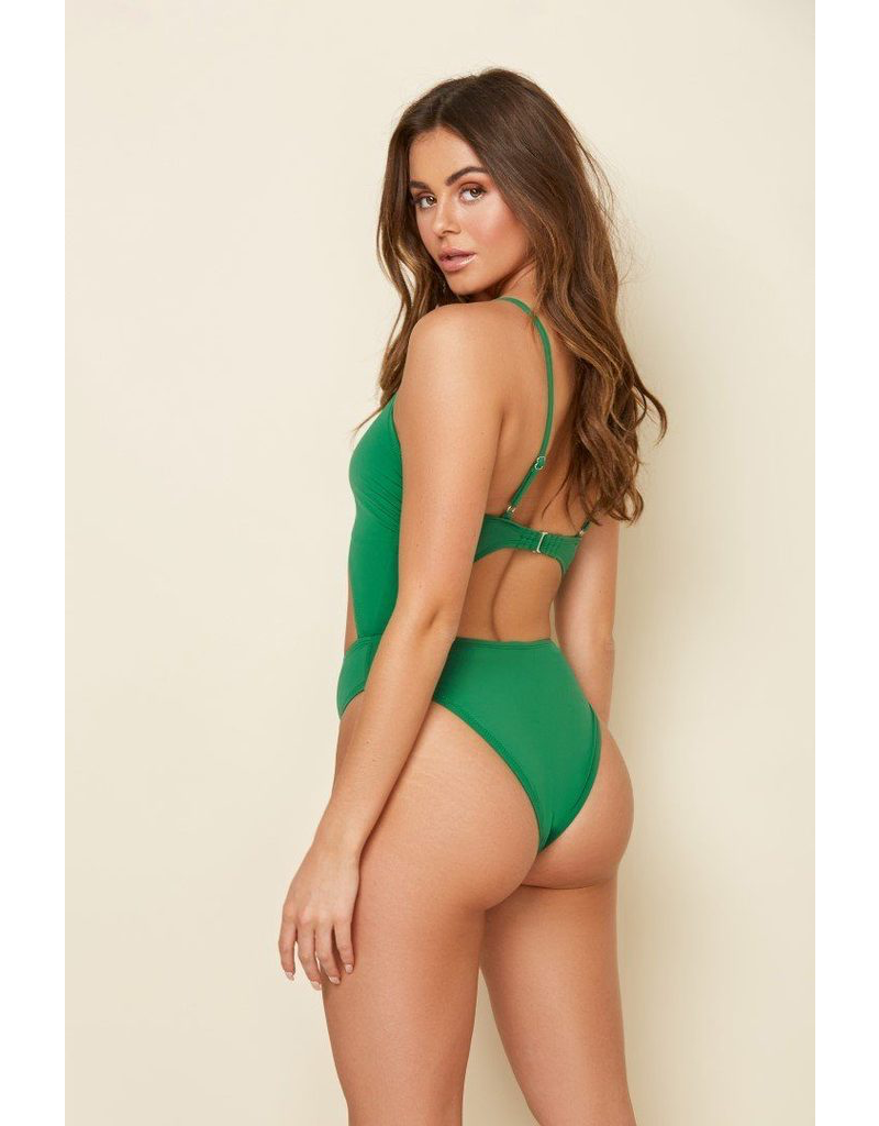 Swimsuits Emerald Front Tie One Piece