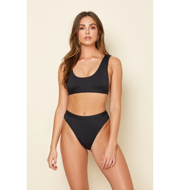 Swimsuits High Waist Basic Black Bottoms