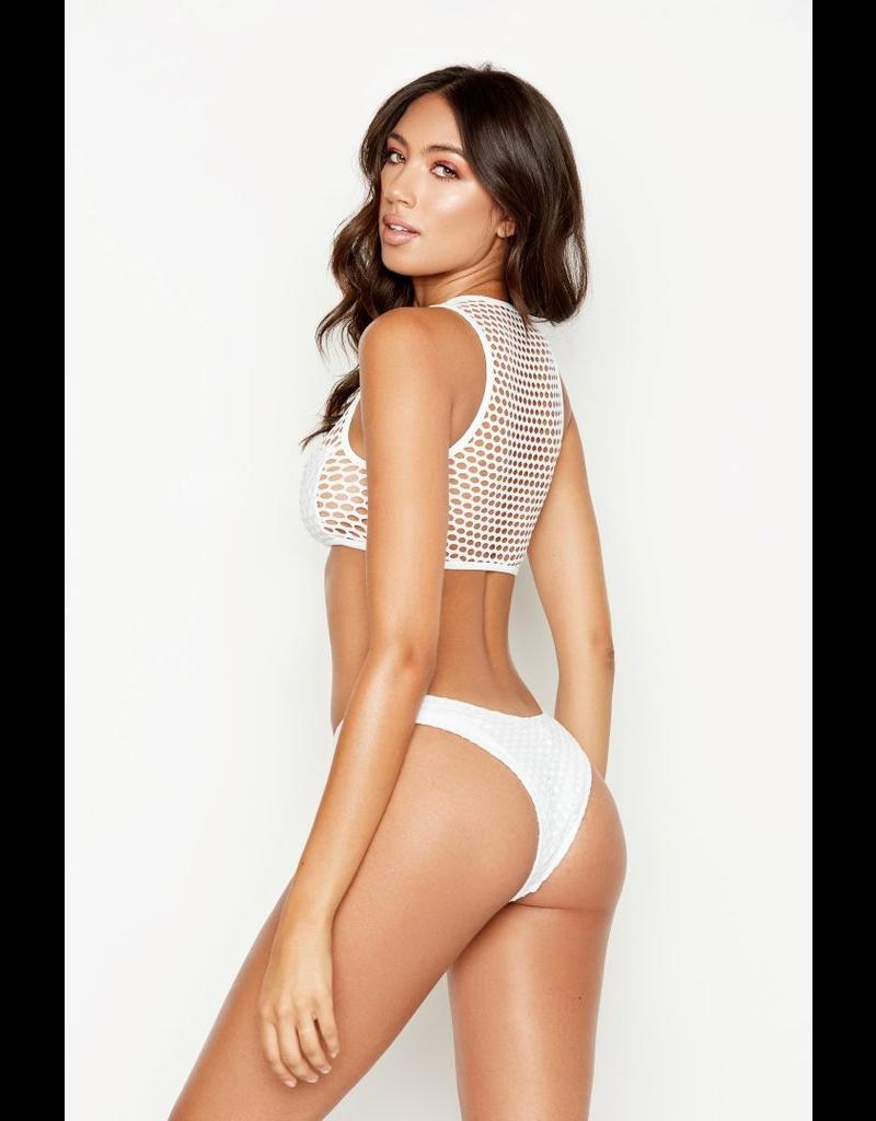 Swimsuits Seaside White Mesh Top