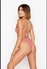 Swimsuits Ruffle and Texture Bikini Bottom