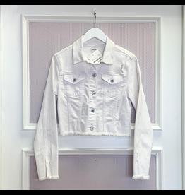 Outerwear White Denim Jacket