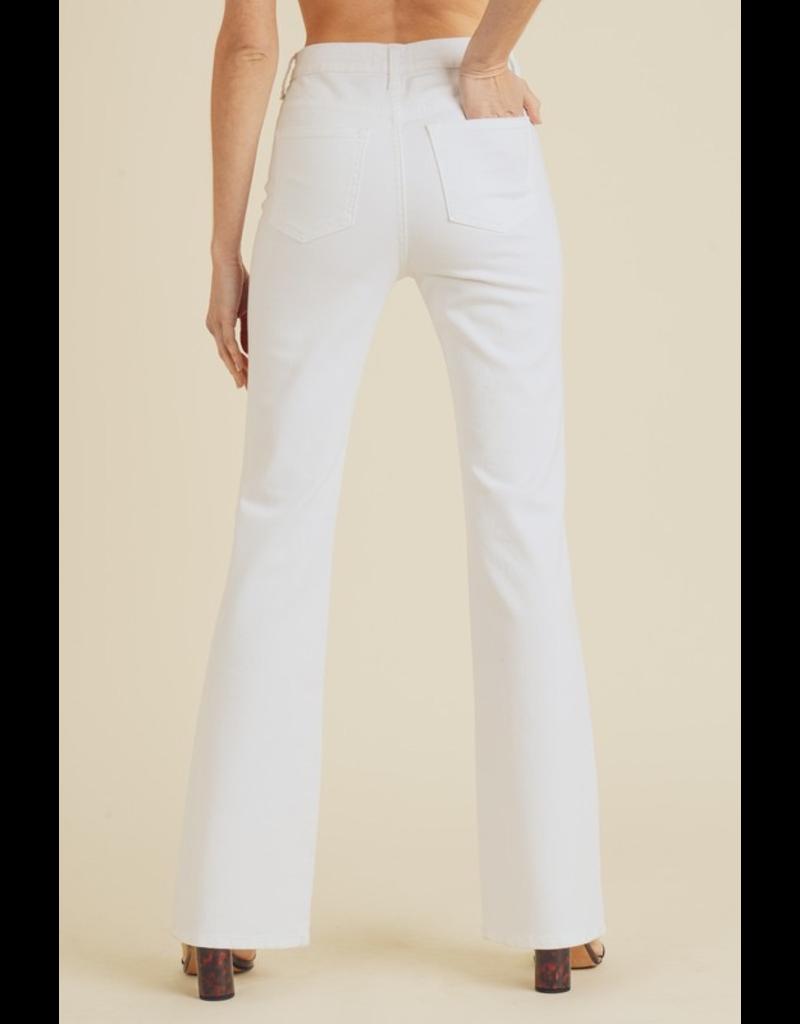 Pants 46 Hello White Flares