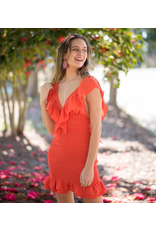 Dresses 22 Live It Up Tangerine Tango Ruffle Dress