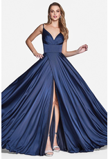 Dresses 22 In This Moment Navy Satin Formal Dress