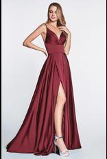 Dresses 22 In This Moment Burgundy Satin Formal Dress