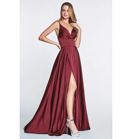 Dresses 22 In This Moment Burgundy Satin Formal Dress