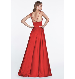 Dresses 22 In This Moment Red Satin Formal Dress
