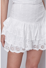 Skirts 62 Sweet White Ruffle Skirt